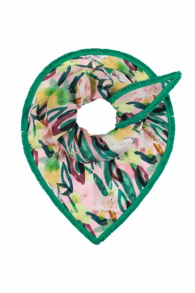 POM Amsterdam SP6143 Shawl Flower Play Cantaloupe