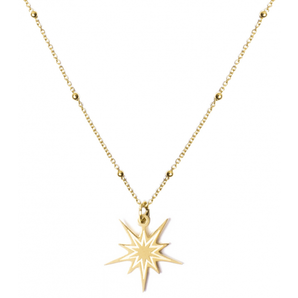Madam the Label Beautiful star necklace gold