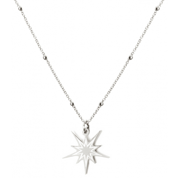 Madam the Label Beautiful star necklace steel