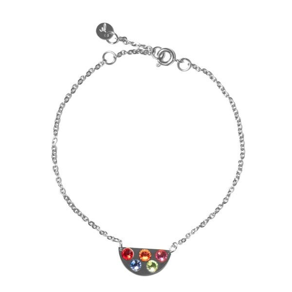 Madam the Label Bracelet rainbow steel