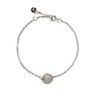 Madam the Label Chain coin bracelet palmtree steel