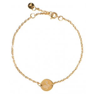 Madam the Label Chain coin bracelet snake gold