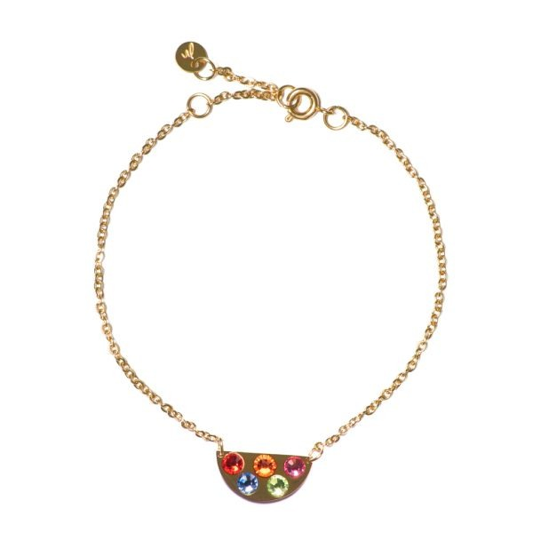 Madam the Label Chain rainbow bracelet gold