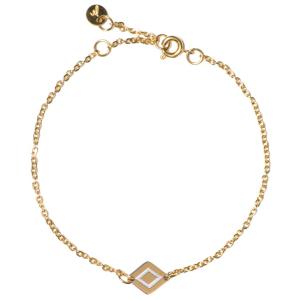 Madam the Label Chain ruby bracelet gold_steel