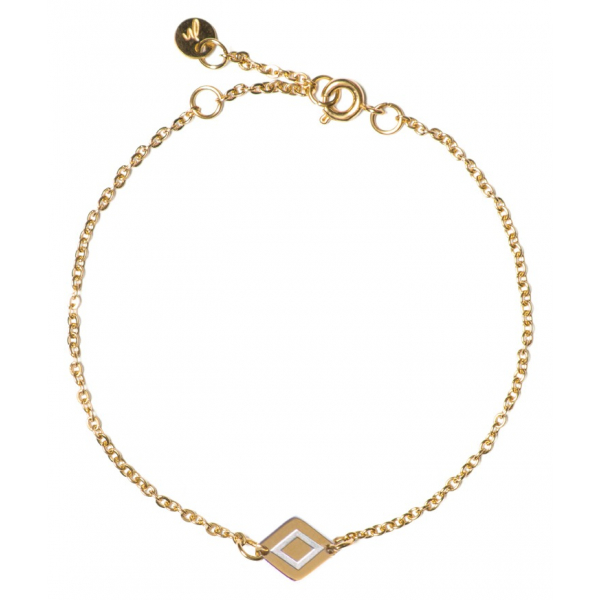 Madam the Label Chain ruby bracelet gold_steel