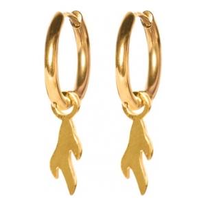 Madam the Label Earrings flame gold