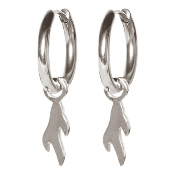 Madam the Label Earrings flame steel