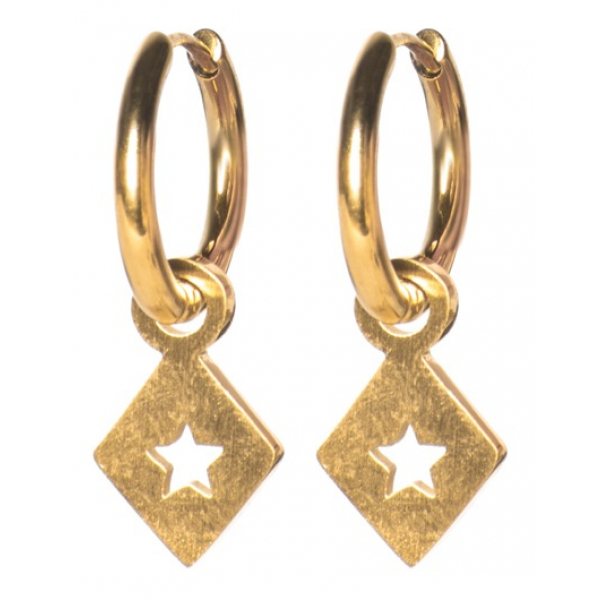 Madam the Label Earrings triangle star gold