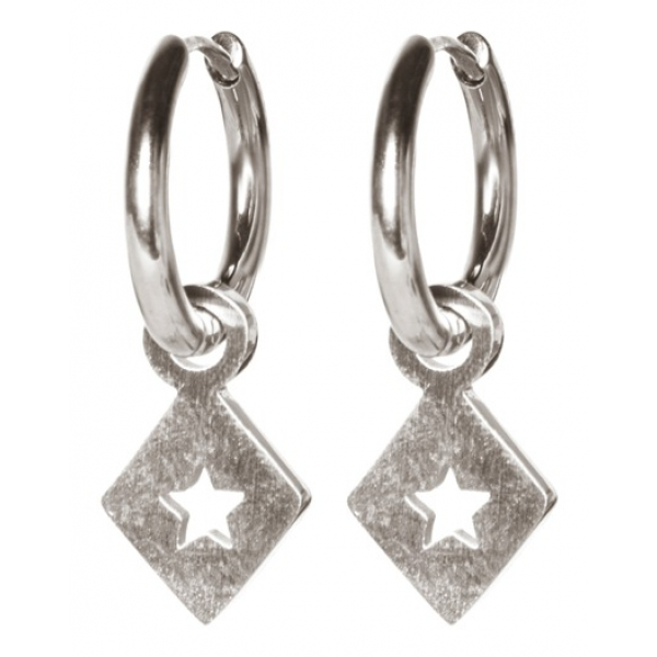 Madam the Label Earrings triangle star steel