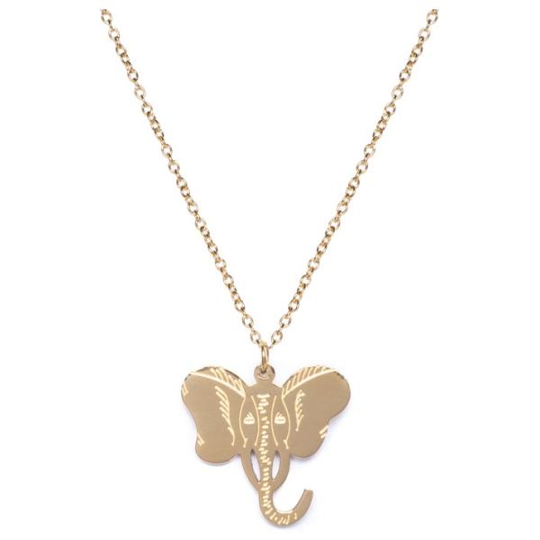 Madam the Label Elephant necklace gold long