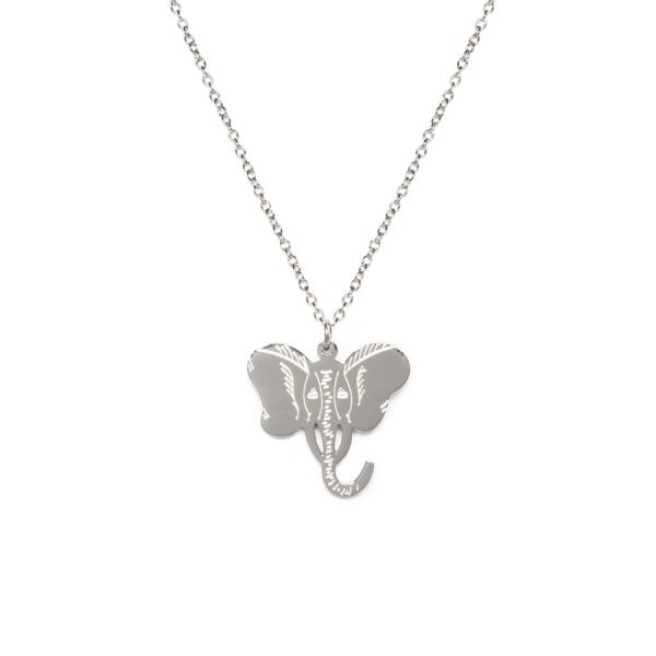 Madam the Label Elephant necklace steel