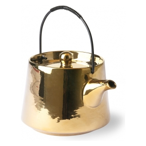 HK Living Bold & Basic Ceramics Tea Pot Gold ACE6740