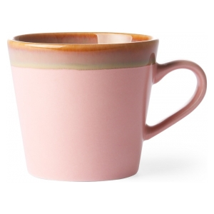 HK Living Ceramic 70's Cappuccino Mug Pink ACE6885