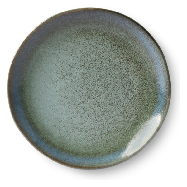 HK Living Ceramic 70's Dessert Plate Moss ACE6066