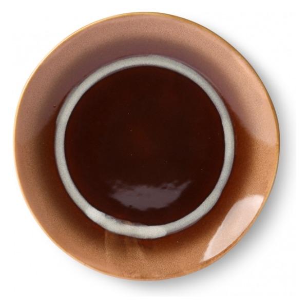 HK Living Ceramic 70's Dessert Plate Tornado ACE6873