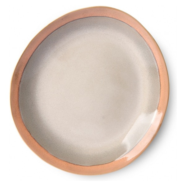 HK Living Ceramic 70's Dinner Plate Earth ACE6872