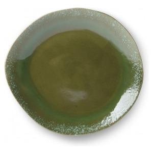HK Living Ceramic 70's Dinner Plate Green ACE6037