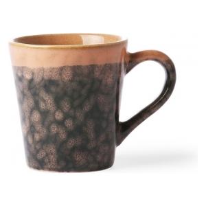 HK Living Ceramic 70's Espresso mug lava ACE6868