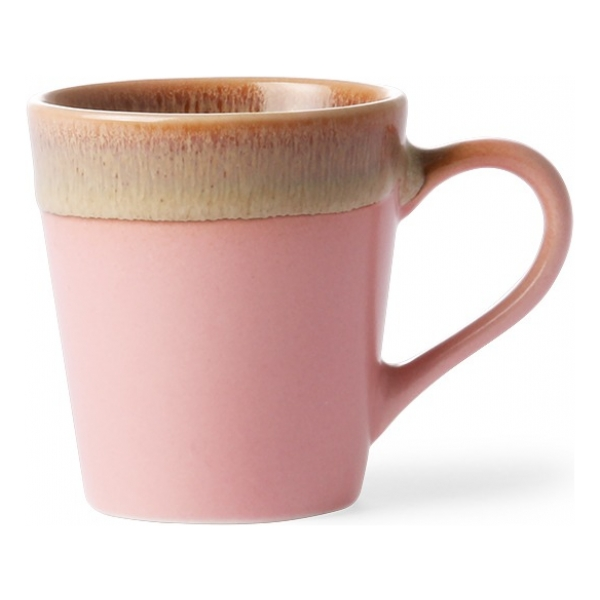 HK Living Ceramic 70's Espresso Mug Pink ACE6772