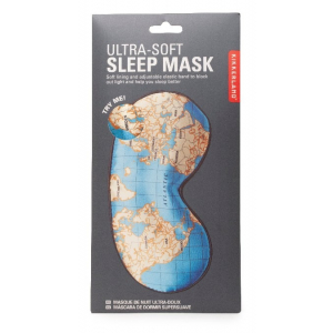Kikkerland Maps Ultra Soft Sleep Mask