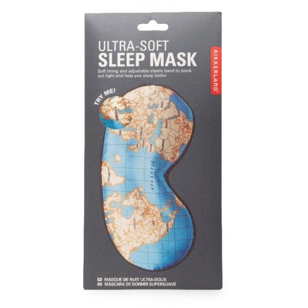 Kikkerland Maps Ultra Soft Sleep Mask