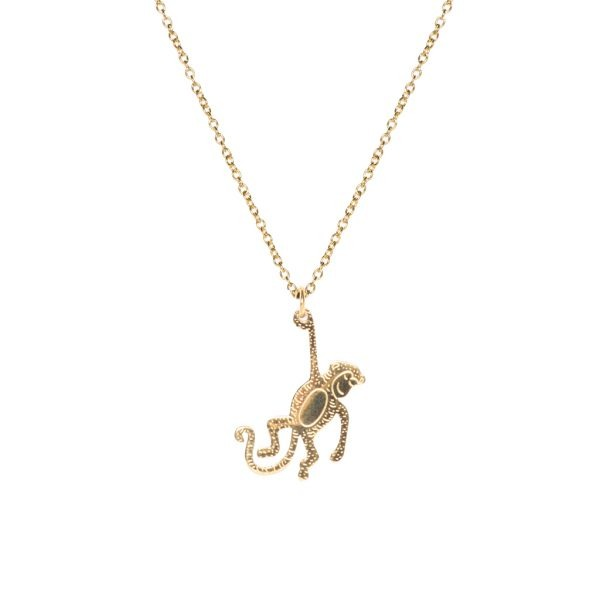 Madam the Label Long Necklace monkey gold