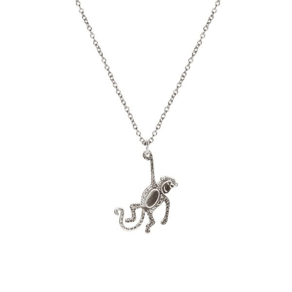 Madam the Label Long necklace monkey steel