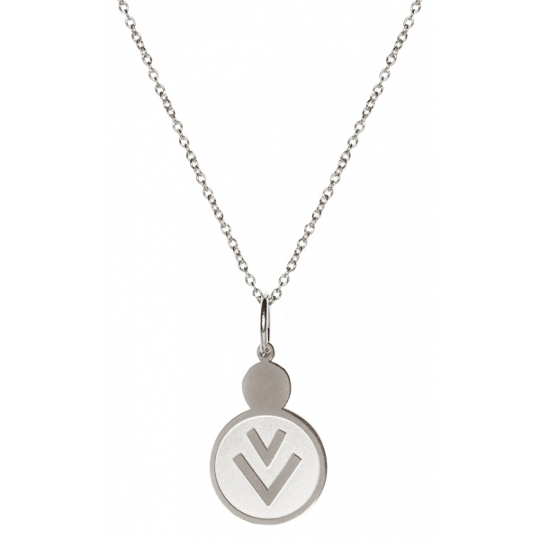 Madam the Label Long necklace round V steel