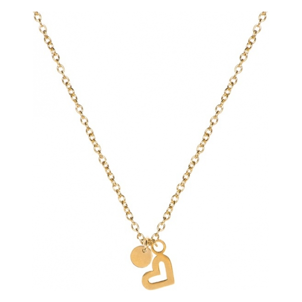 Madam the Label Short necklace heart gold