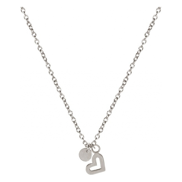 Madam the Label Short necklace heart steel