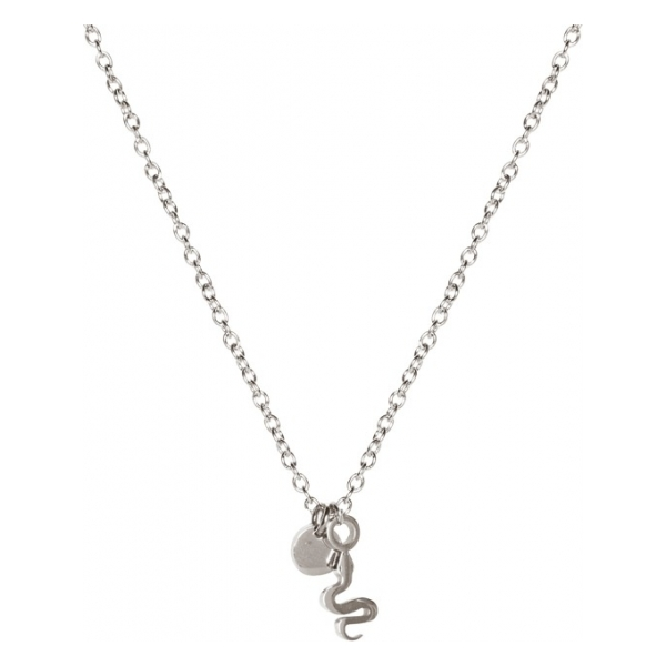 Madam the Label Short necklace snake steel