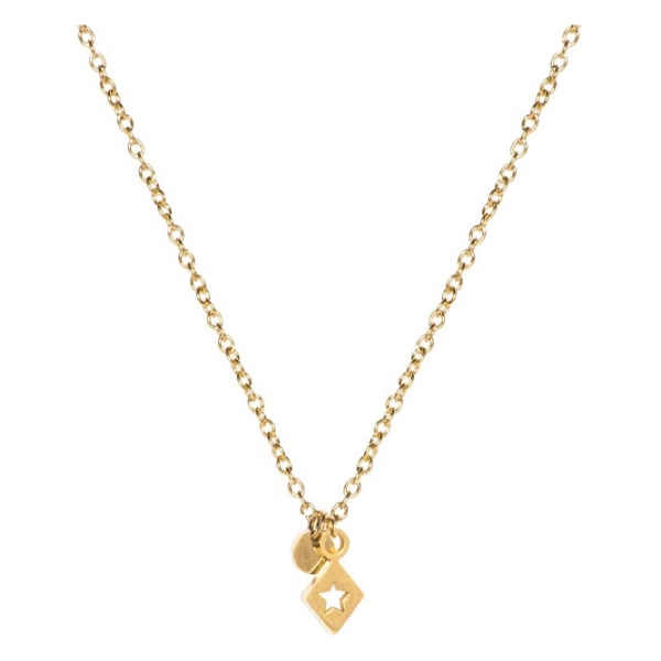 Madam the Label Short necklace triangle star gold