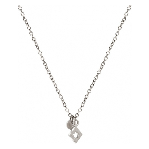 Madam the Label Short necklace triangle star steel