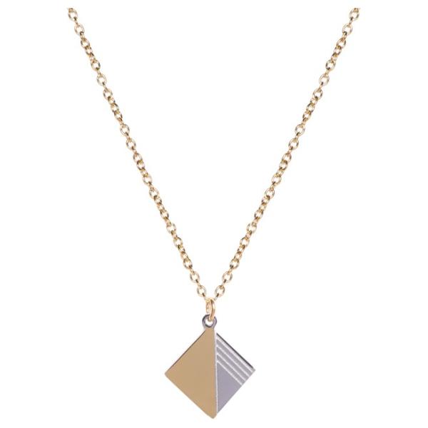 Madam the Label Square necklace duotone long