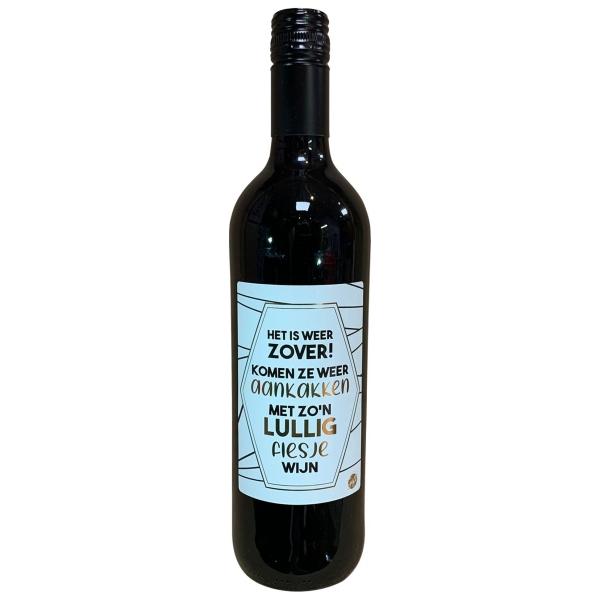 The Big Gifts Wijnfles rood Het is weer zover! Komen ze weer aankakken met zo'n lullig flesje wijn