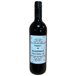 The Big Gifts Wijnfles rood Proost op wijnzinnige feestdagen!