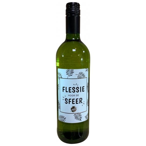 The Big Gifts Wijnfles wit Flessie voor de sfeer