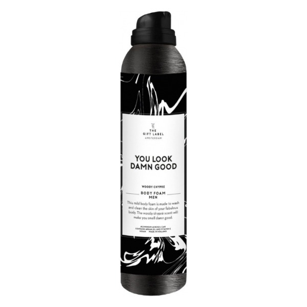 The gift label body foam men you look damn good