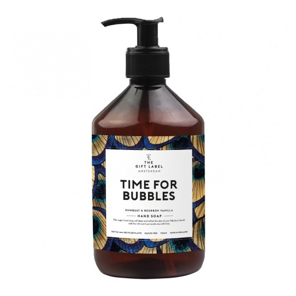 The gift label hand soap time for bubbles