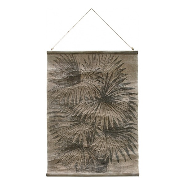 HK Living Vintage wall chart Palm leaves awd8855