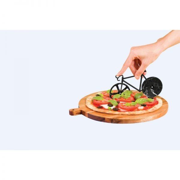 Doiy The Fixie Black Marble Pizza Cutter