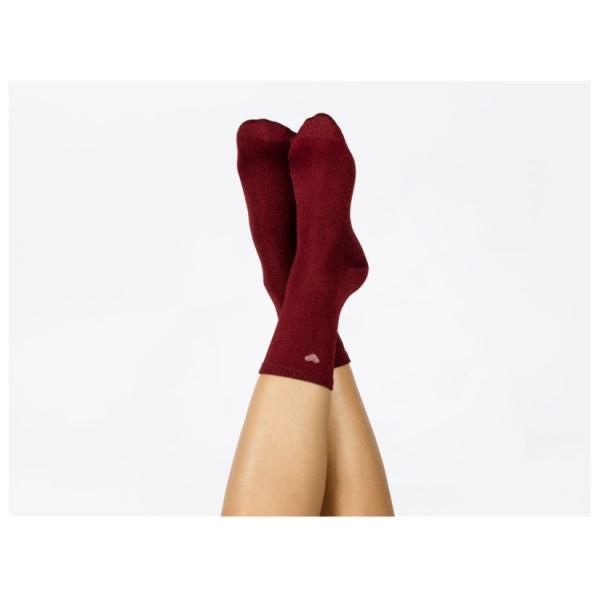 Doiy Heart Socks Red