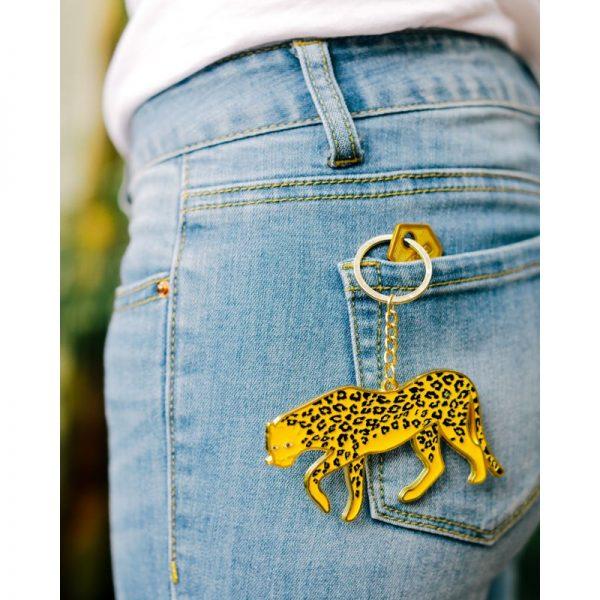 Doiy Keychain Oversized Leopard