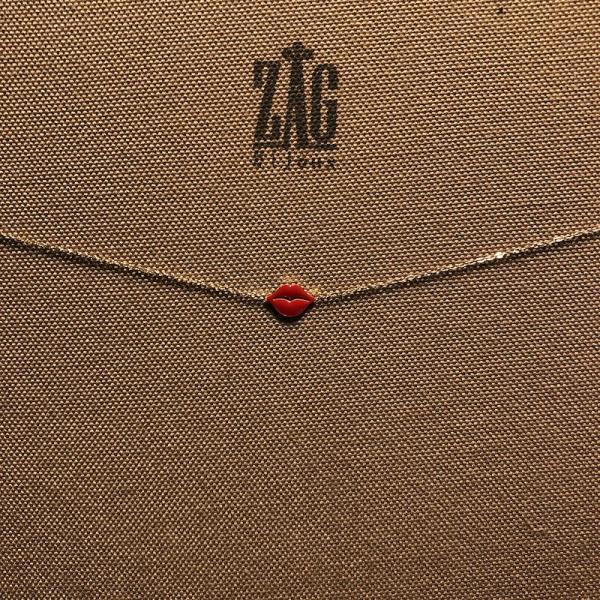 ZAG Bijoux Ketting Met Lippen Goud