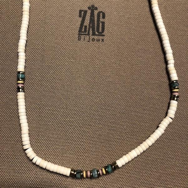 ZAG Bijoux Ketting Witte Kralen