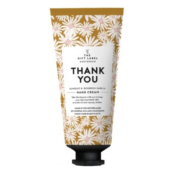 The Gift Label Tube Handcrème Thank you