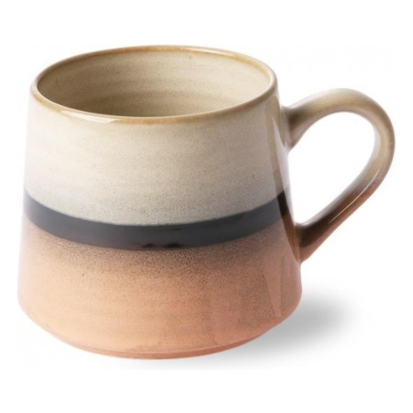 HK Living ceramic 70's tea mug XL: Tornado