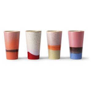 HK Living 70s ceramics: latte mugs (set of 4)
