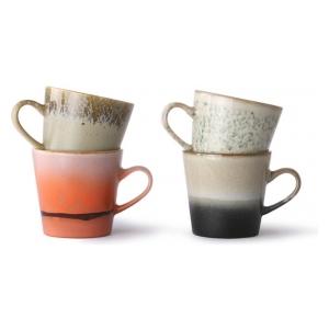 HK Living 70s ceramics: americano mugs (set of 4)