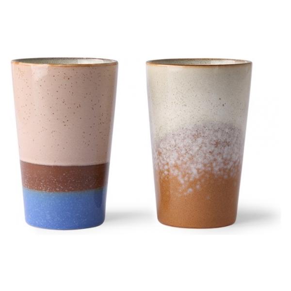 HK Living 70s ceramics: tea mugs (set of 2)